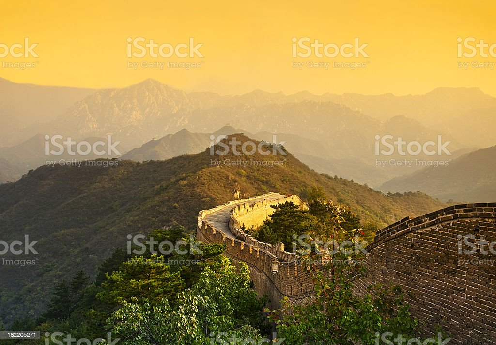 The Great Wall of China royalty-free stock photo