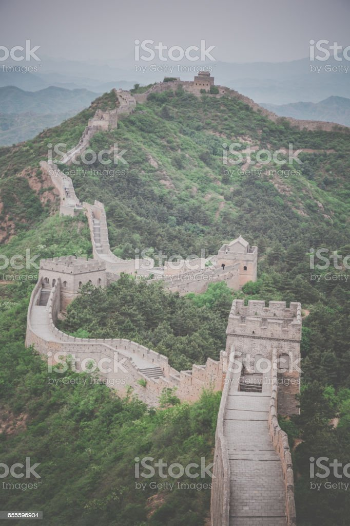 The Great Wall of China Scenic View stock photo
