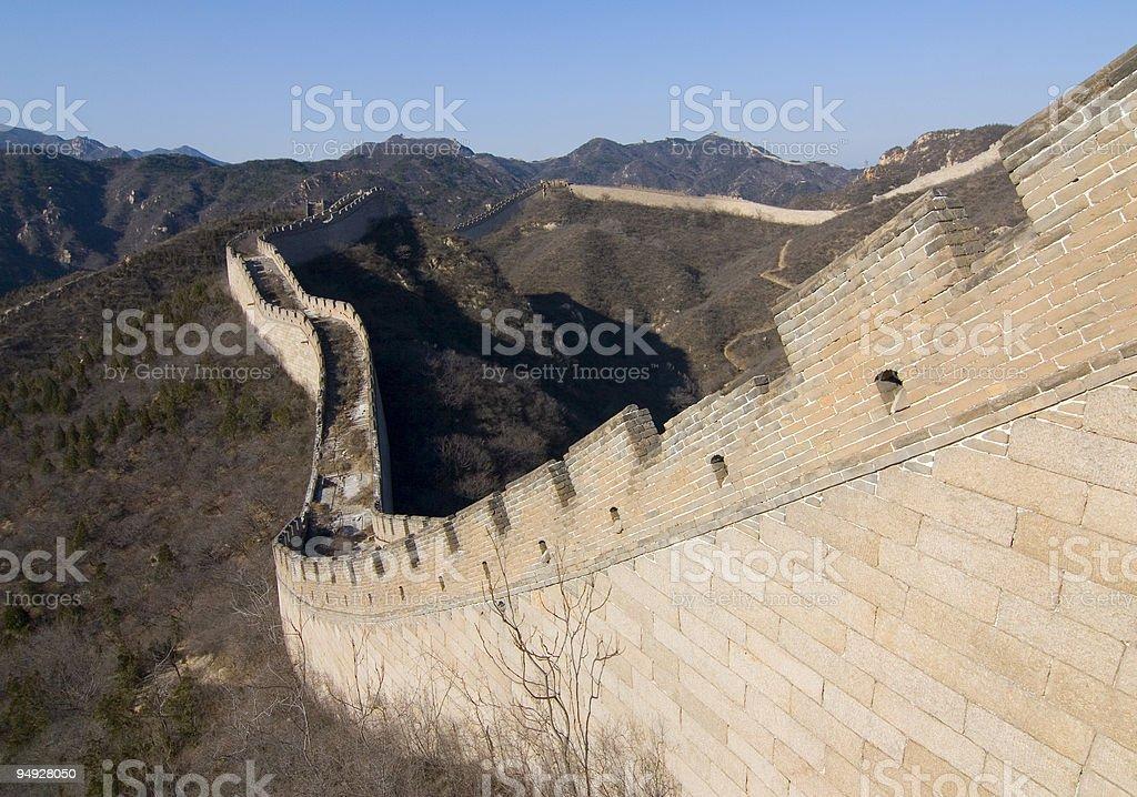 The Great Wall of China V royalty-free stock photo