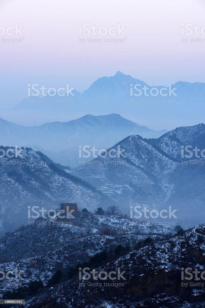 The Great Wall of Jinshanling stock photo
