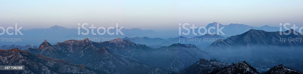 The Great Wall of Jinshanling stock photo