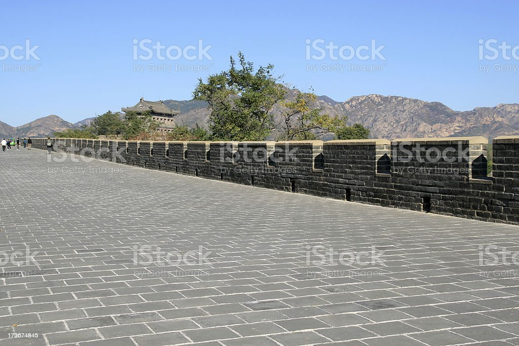 the great wall of shanhaiguan pass royalty-free stock photo