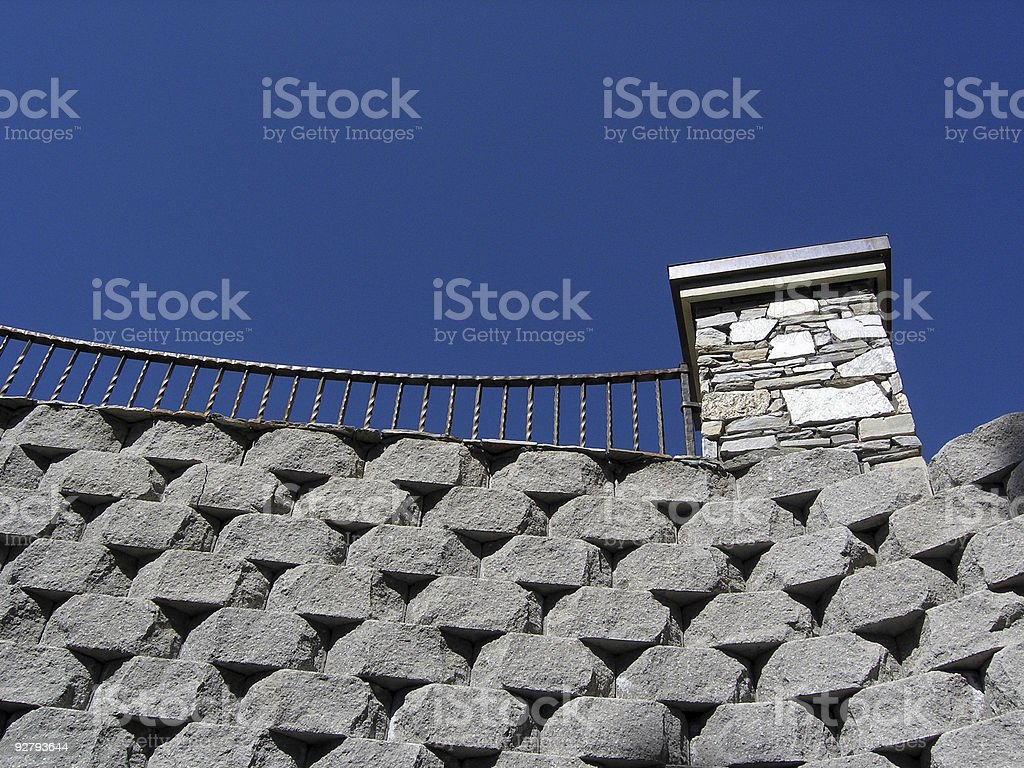 The Great Wall of the Suburbs royalty-free stock photo