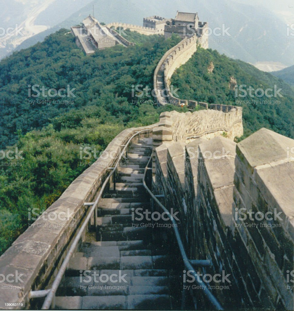 The Great Wall royalty-free stock photo