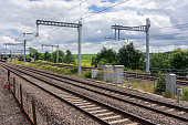 The great western mainline at Cholsey in south Oxfordshire