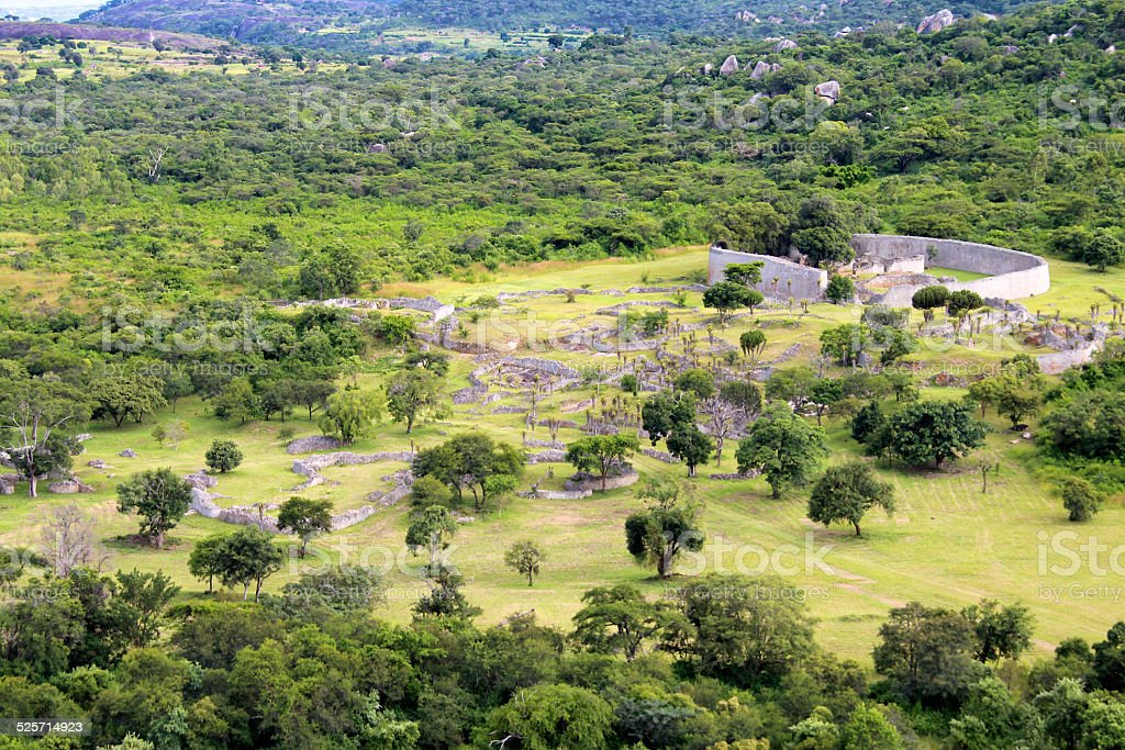 The Great Zimbabwe Ruins stock photo