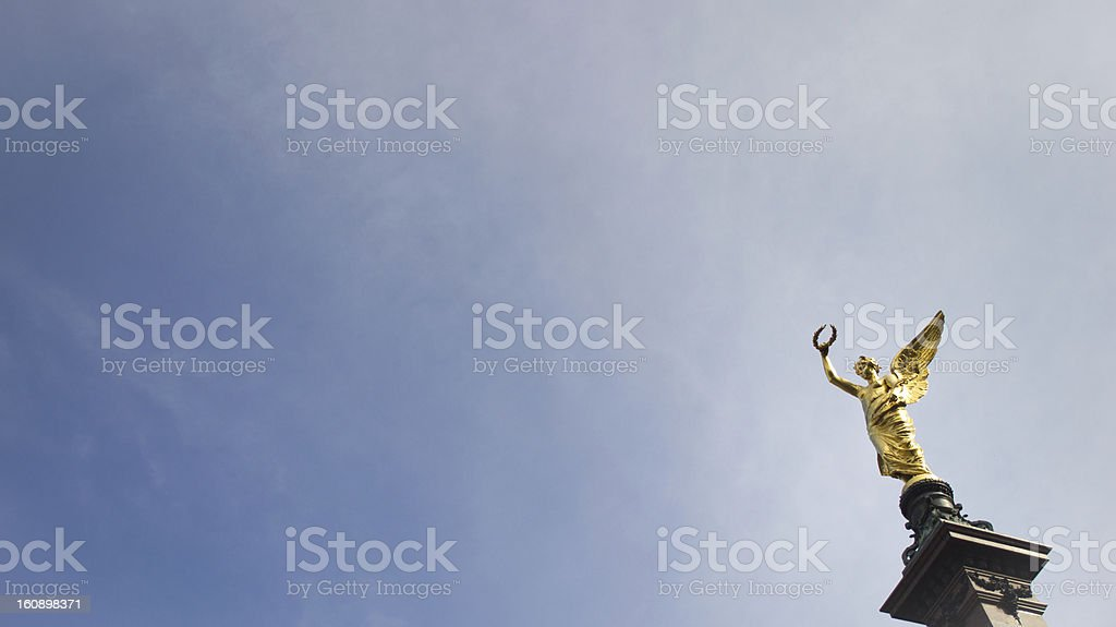 The greek goddess of victory royalty-free stock photo