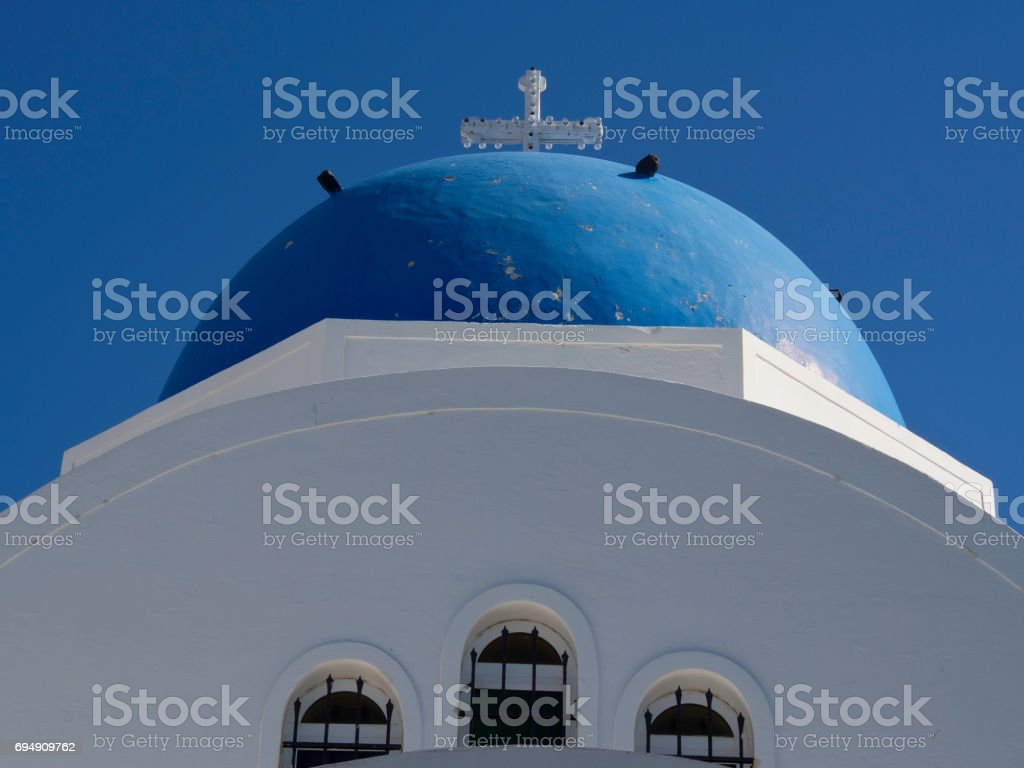 the greek island santorini stock photo