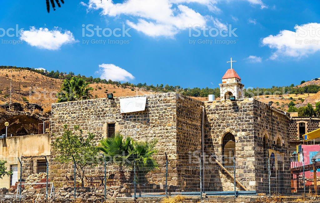 The Greek Orthodox Church in Tiberias stock photo