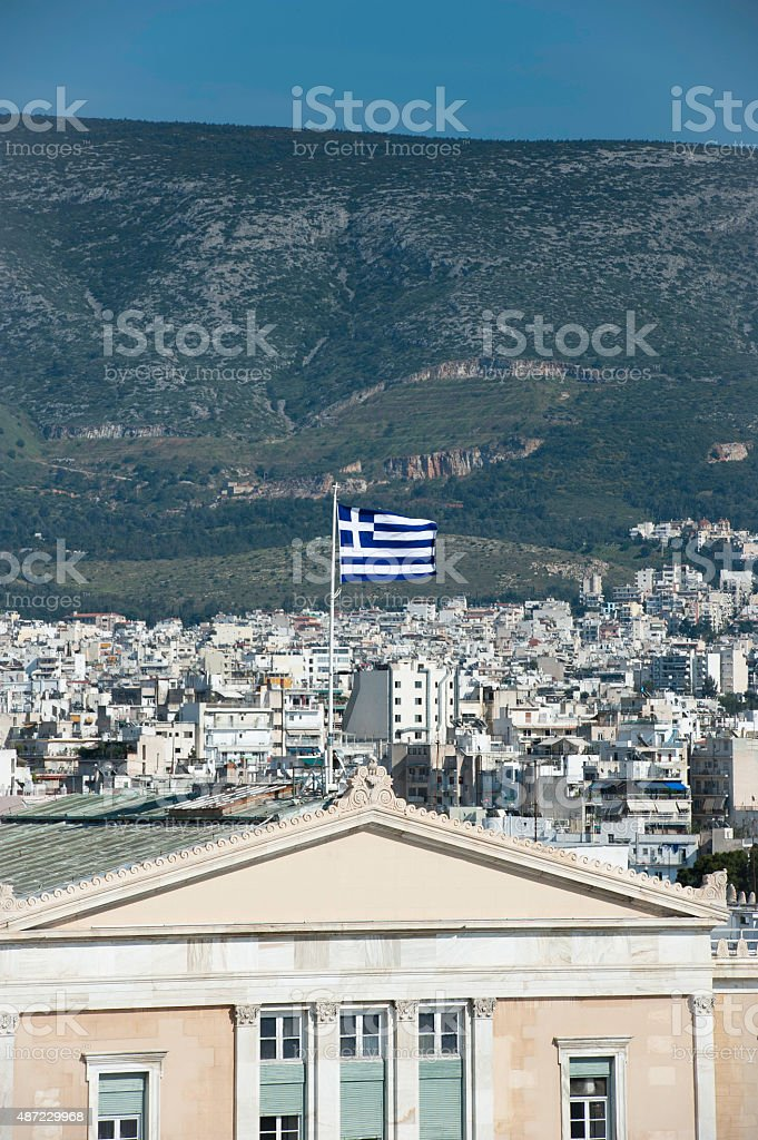 The Greek Parliament Building stock photo