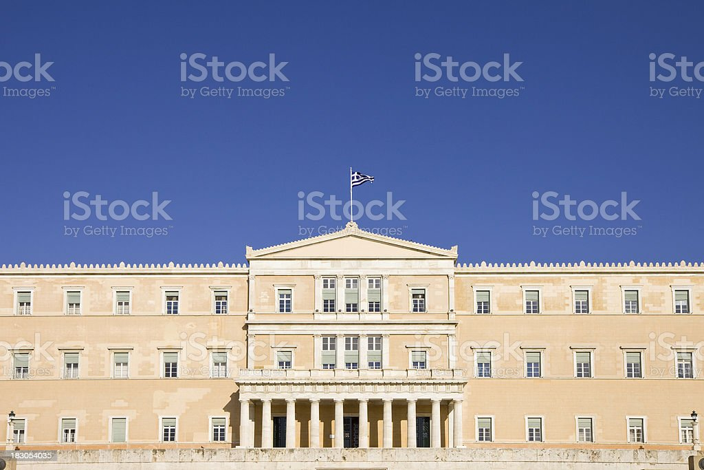 The Greek Parliament in Athens stock photo