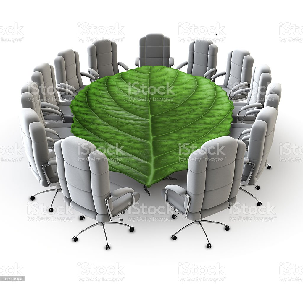 The green boardroom royalty-free stock photo