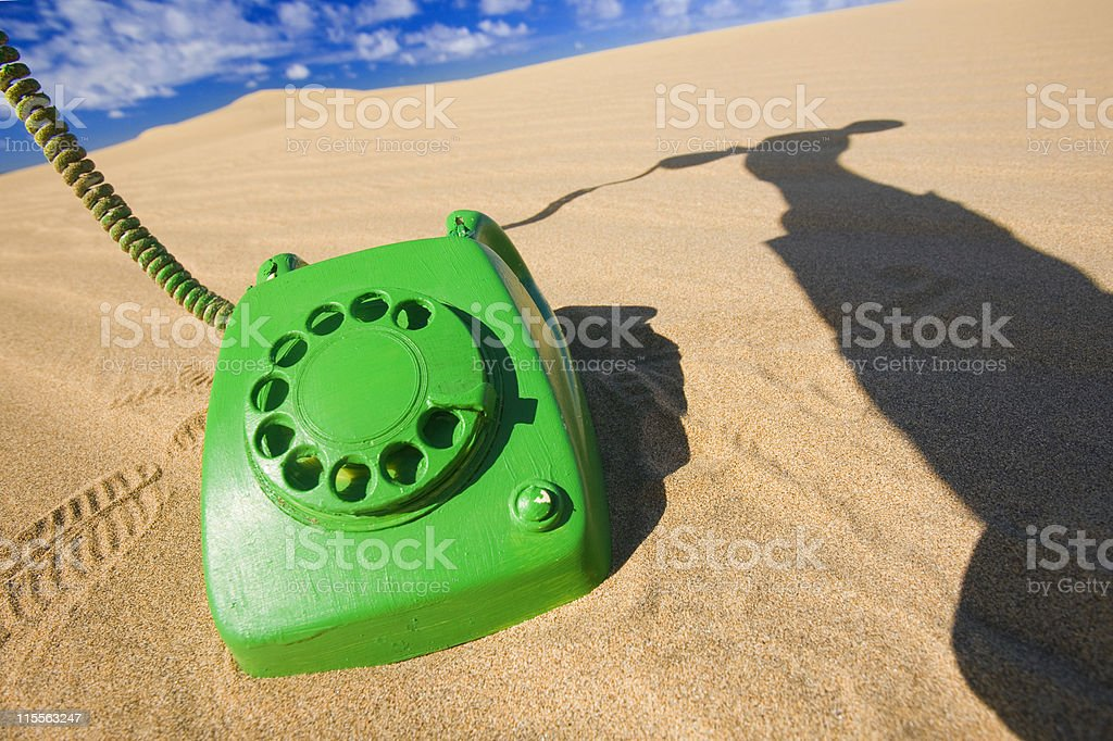 The Green Call Must Be Answered royalty-free stock photo