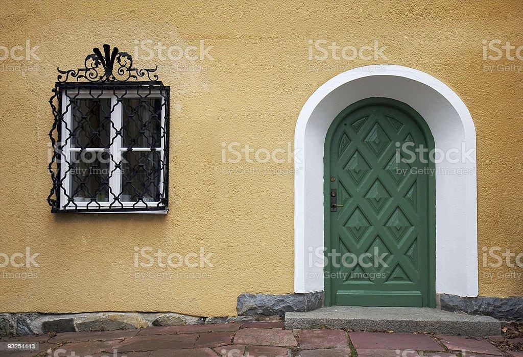The green door royalty-free stock photo