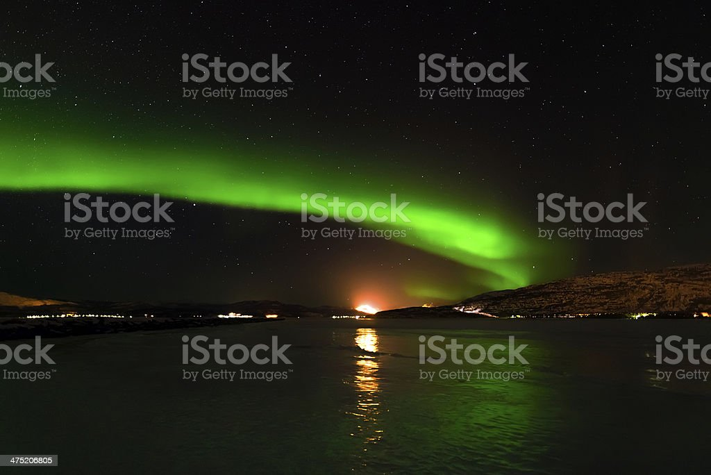 The Green Lights of Norway stock photo