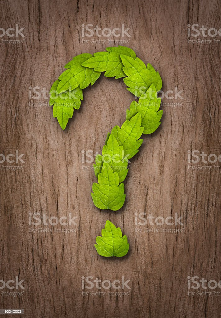 the green question royalty-free stock photo