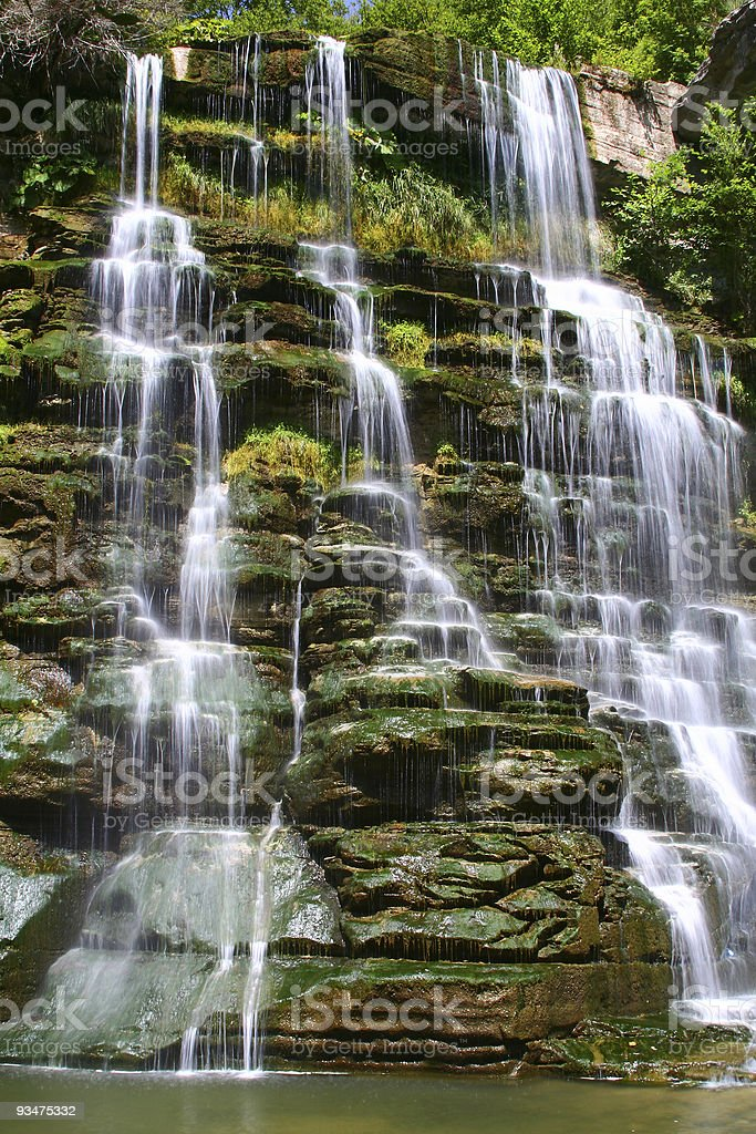 The green waterfall royalty-free stock photo