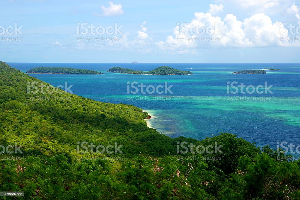 The Grenadines Islands Caribbean Island Chain Tobago Cays Saint Vincent stock photo