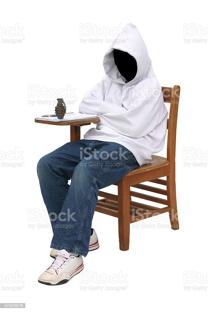 The Grim Reaper Goes to School royalty-free stock photo