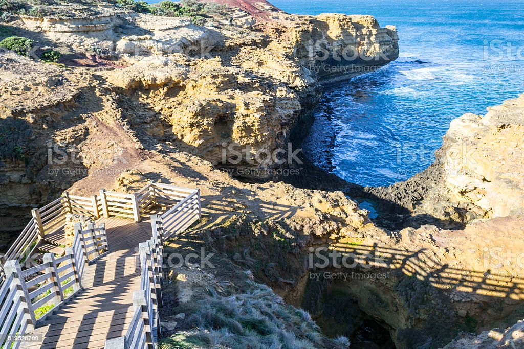 The Grotto in the Great Ocean Road stock photo