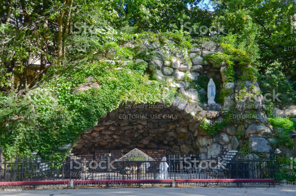 The Grotto on the Campus of Notre Dame stock photo