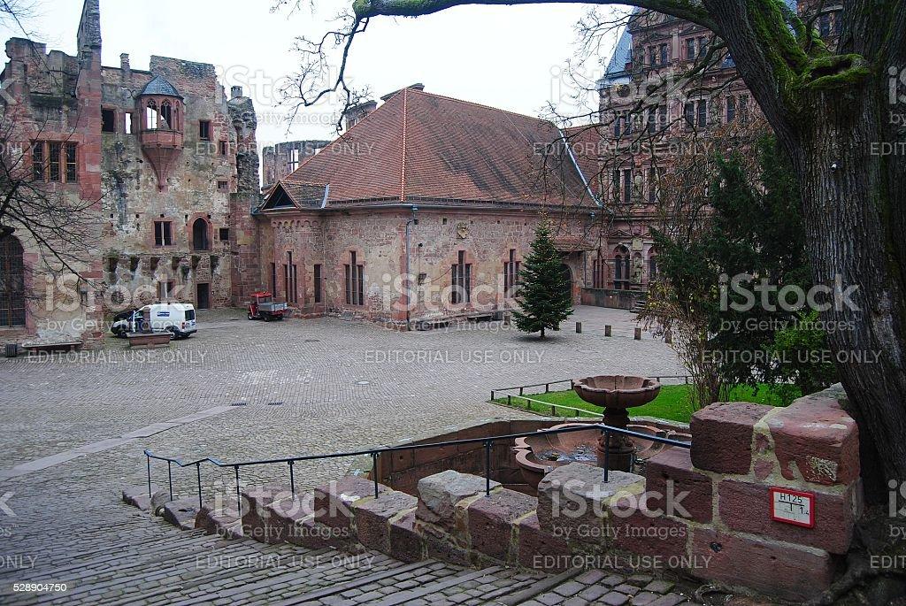 The grounds of Schloss Heidelberg. stock photo