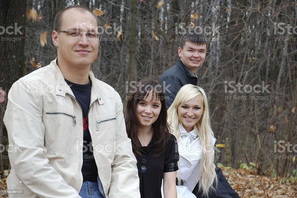 The Group portrait. stock photo