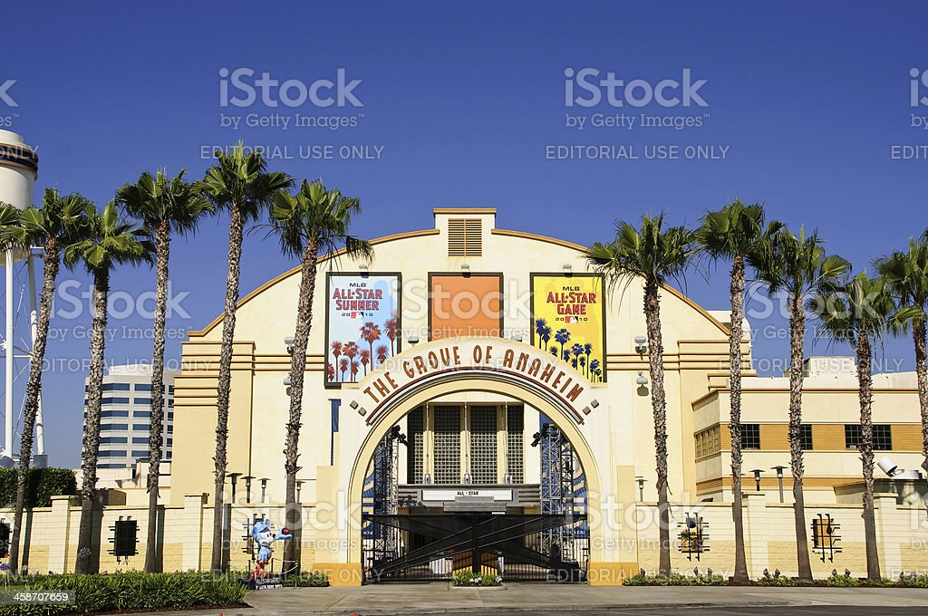 The Grove of Anaheim stock photo