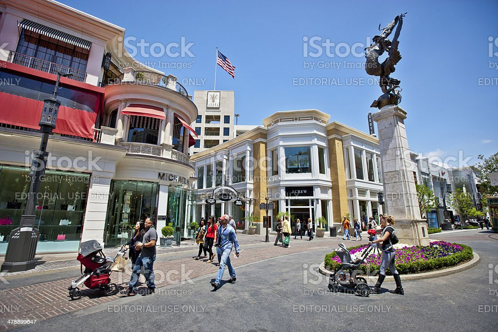The Grove Shopping Mall - Los Angeles stock photo