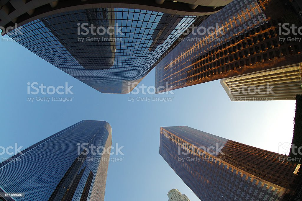 The Growing city stock photo