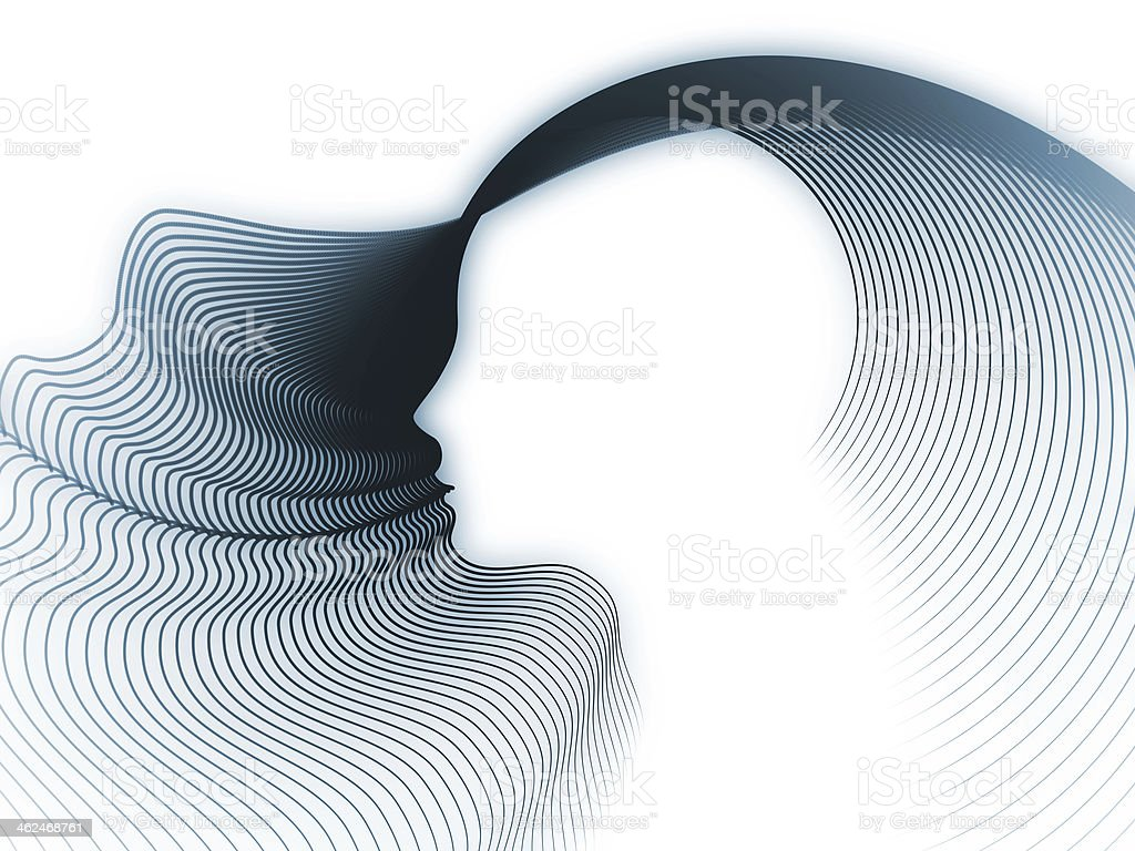 The Growing Soul Geometry stock photo