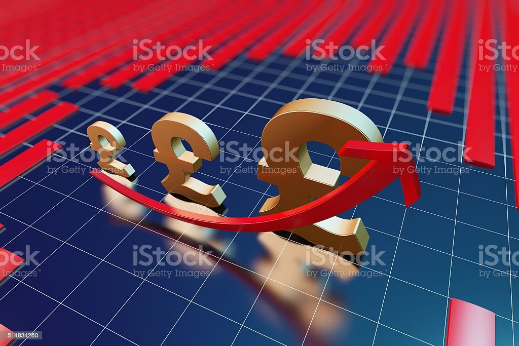 The growth of the economy stock photo