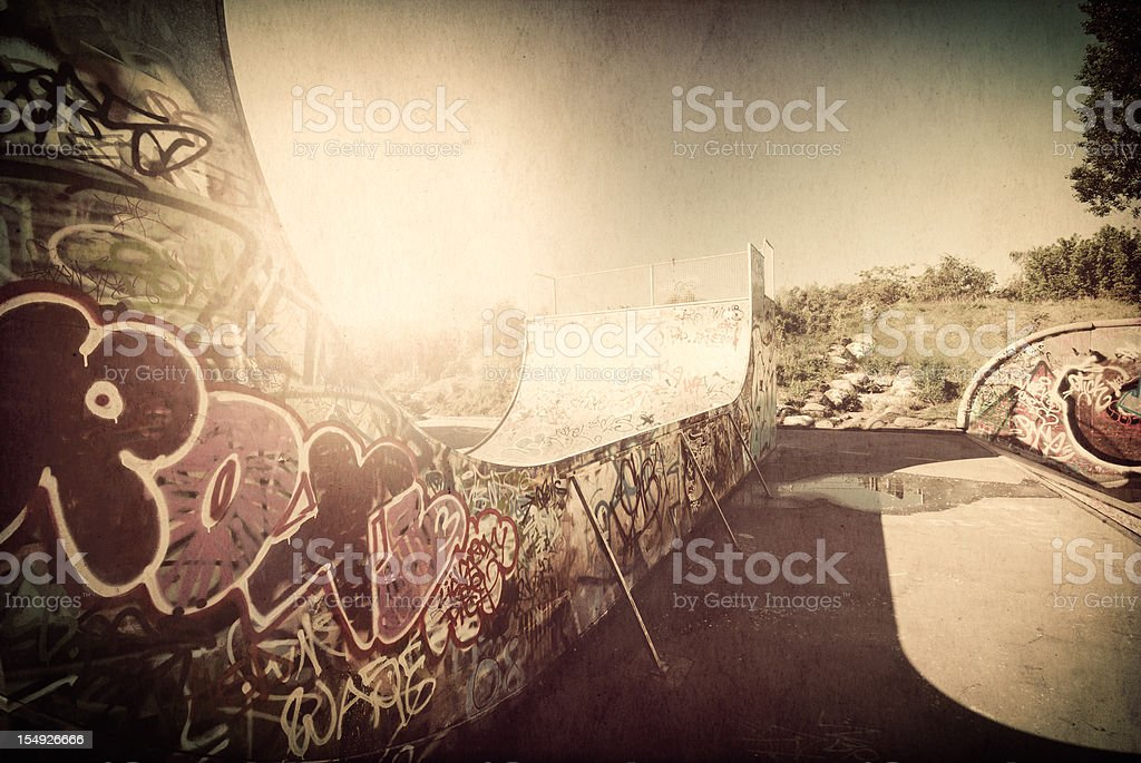 The grunge ramp stock photo