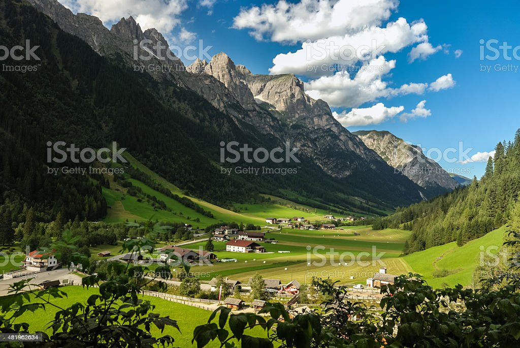 The Gschnitztal in Tirol stock photo