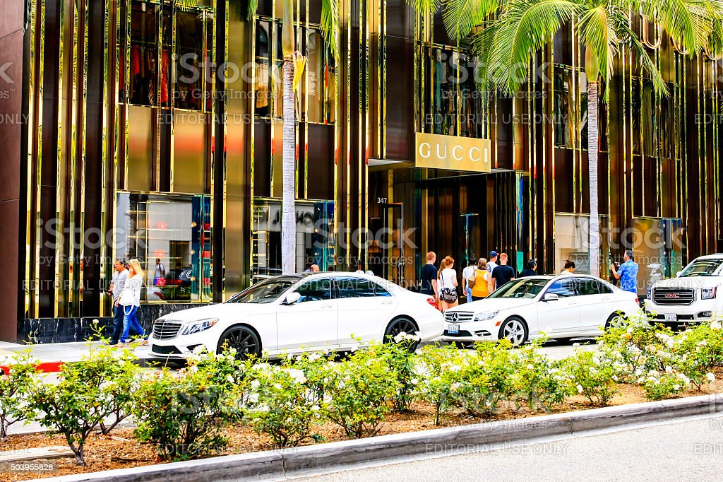 The Gucci store on Rodeo Drive, Beverly Hills CA stock photo