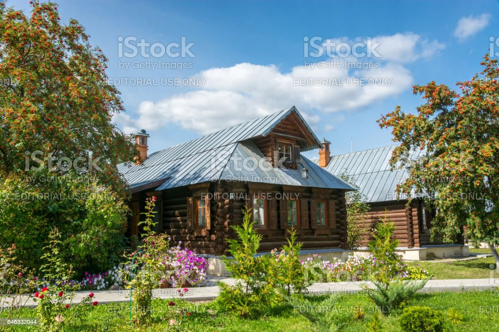 The guest house at Pokrovsky women's monastery. stock photo