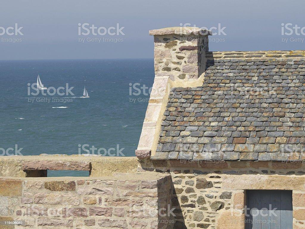 the Guette between Pl?neur and Val-Andr? royalty-free stock photo