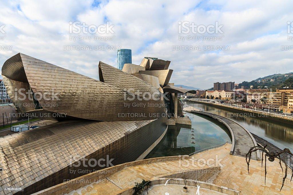The Guggenheim Museum in Bilbao, Spain stock photo