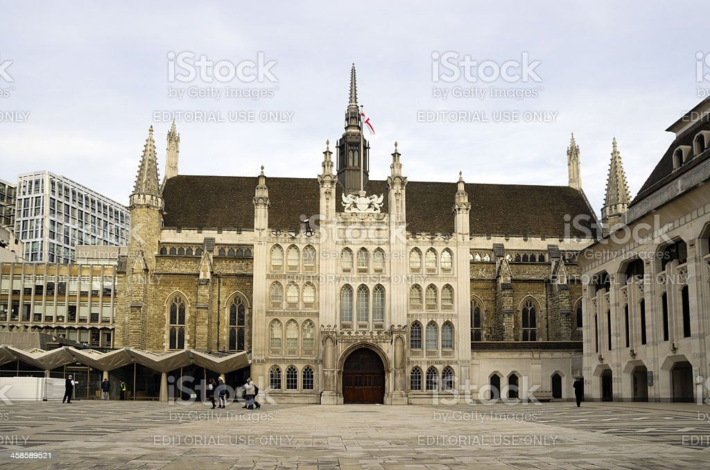 The Guildhall, City of London royalty-free stock photo