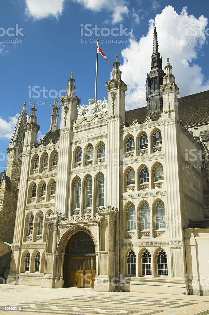 The Guildhall, London royalty-free stock photo