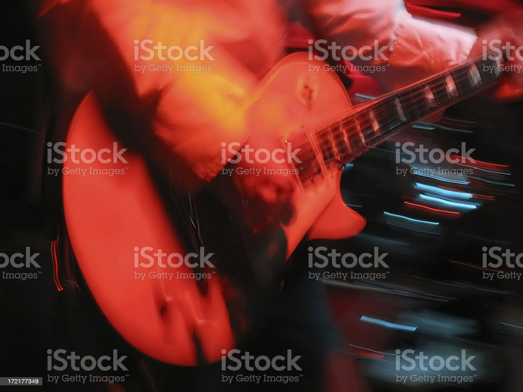 The guitar player royalty-free stock photo