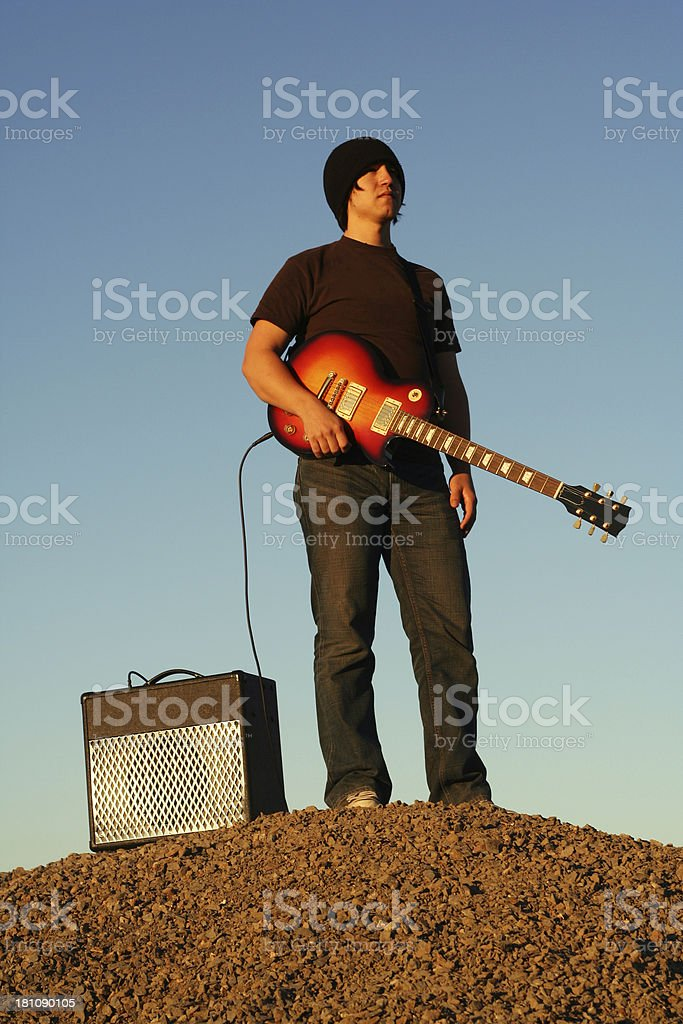The Guitarist royalty-free stock photo