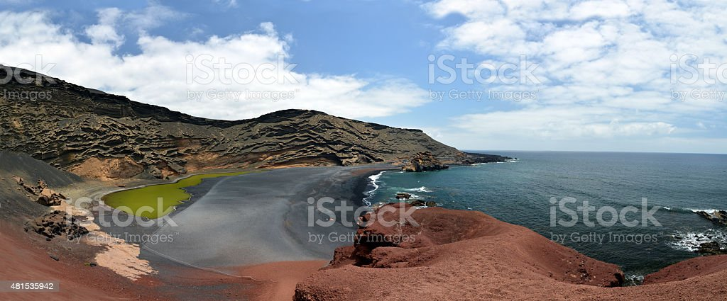 El Golfo - Lanzarote - Lagoon - volcano - Earth royalty-free stock photo