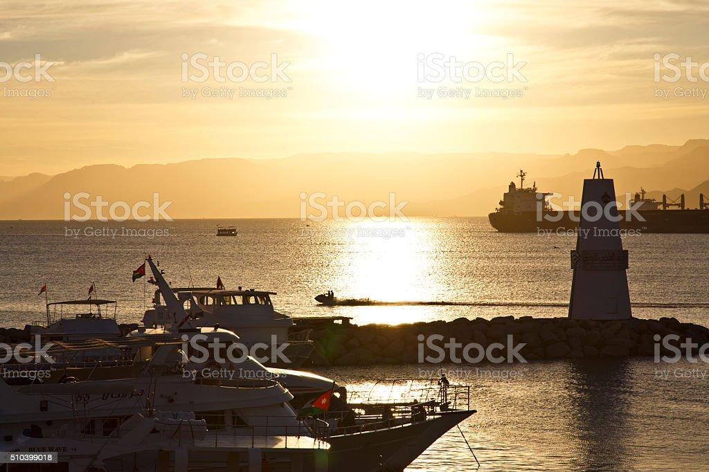 The gulf of Aqaba, red sea stock photo