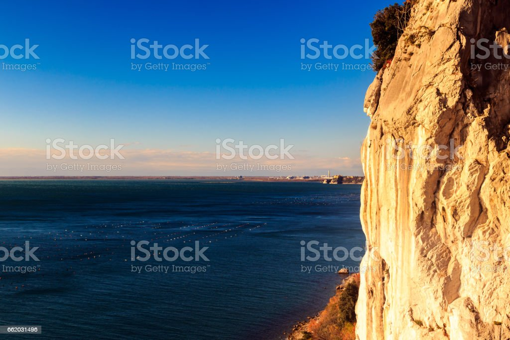 The gulf of trieste in a windy day stock photo