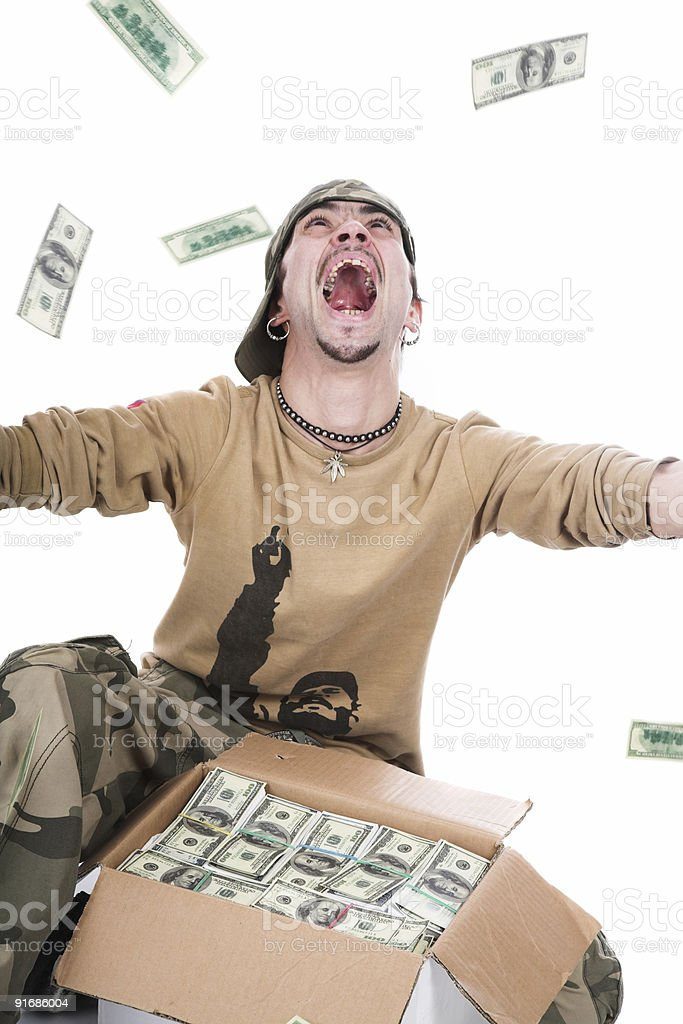 The guy in a camouflage stock photo