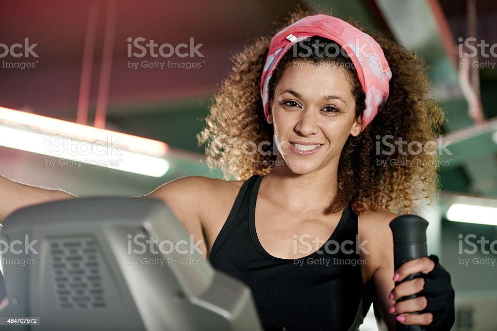 The gym is my home stock photo
