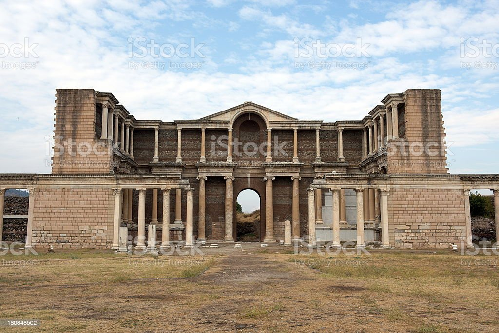 The Gymnasium of Sardis royalty-free stock photo