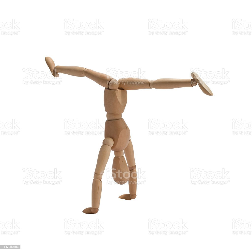 The Gymnast royalty-free stock photo