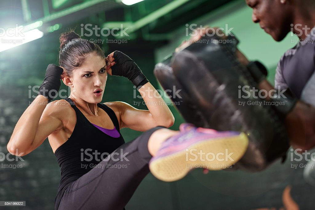 The habit of persistence is the habit of victory stock photo
